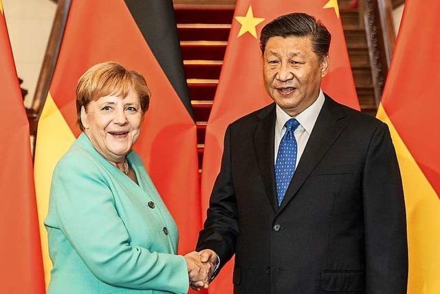 Kanzlerin pocht in China auf