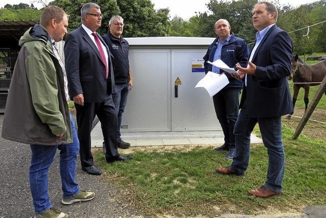 Neue Stromleitungen in Nordweil installiert