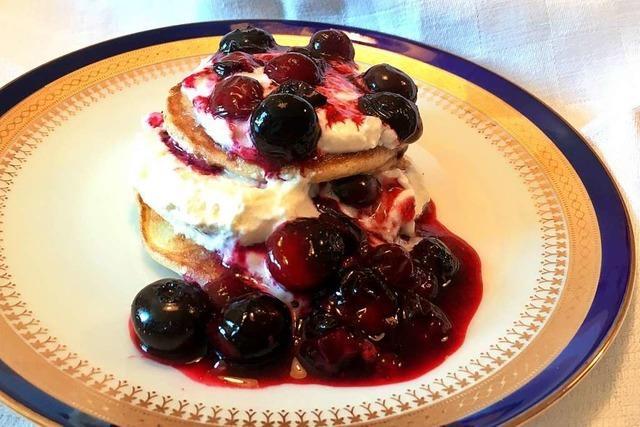 Pancakes sorgen für zufriedene Gesichter bei Tisch
