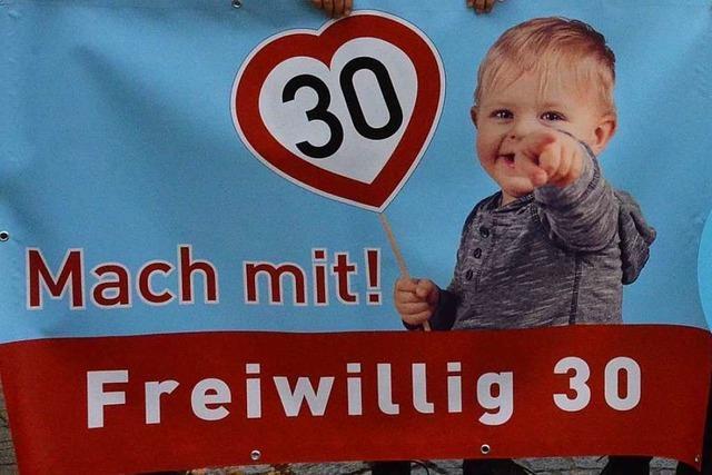 Freiwillig Tempo 30: Hartheim bittet Autofahrer um Rücksicht