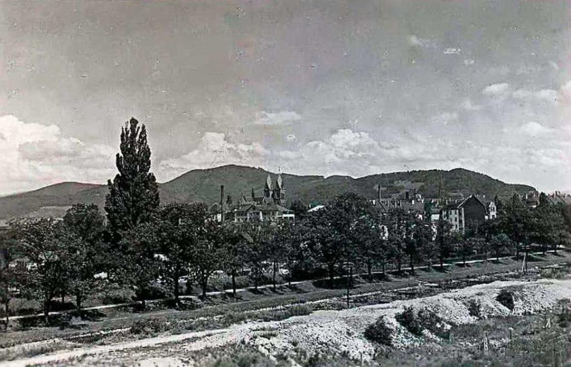 Das undatierte Foto wurde vom Haslache...legeanstalt und der Herz-Jesu-Kirche.   | Foto: Archiv Hans-Jürgen Oehler