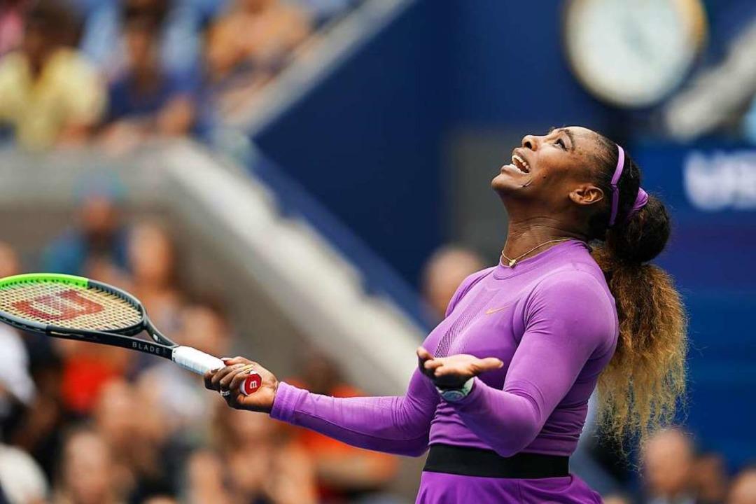 Verzeifelt: Serena Williams  | Foto: Li Muzi (dpa)