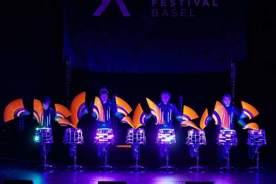 """""""Stickstoff  druming entertainment"""" beim JKF (Foto: Samuel Bramley)"""