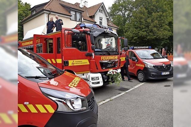 Drei neue Fahrzeuge für die Feuerwehr