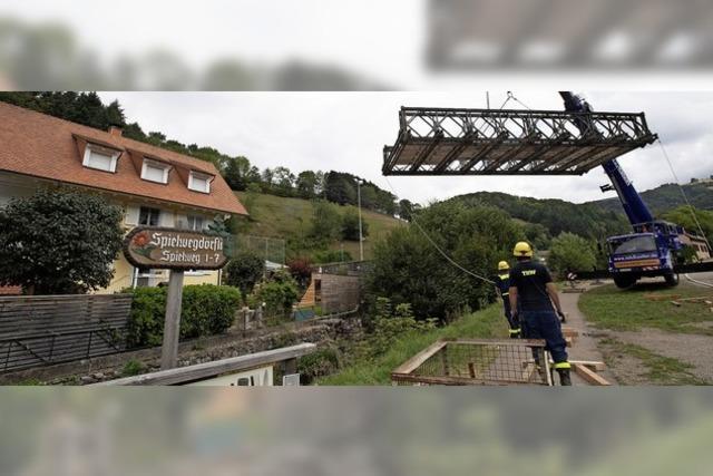Neue Brücke aus der Luft