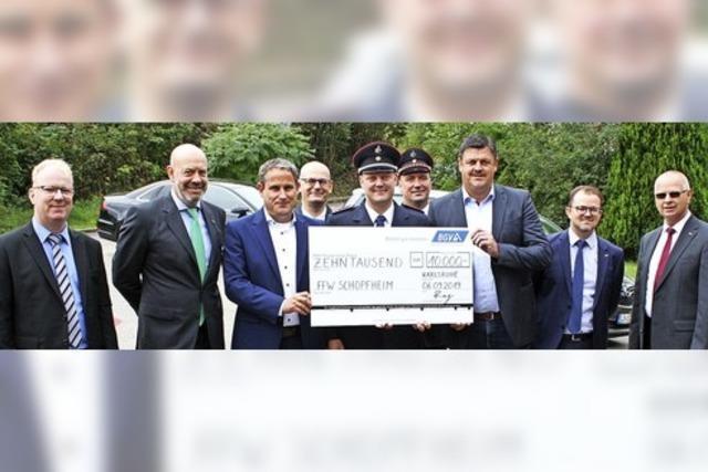 10 000 Euro an Feuerwehr Gersbach