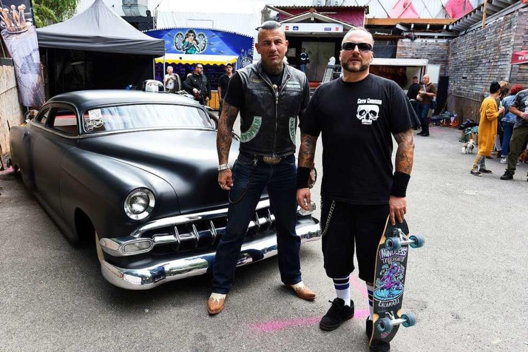 Cobras-Präsident Alexander Schmidl (rechts) und Vize Daniel Mattuschek    Foto: Rita Eggstein