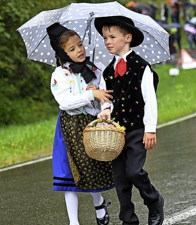 Der Regen kann ihnen nichts anhaben.  | Foto: Wolfgang Scheu