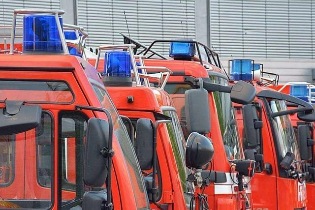Feuerwehr muss brennendes Auto zwischen Lörrach und Steinen löschen