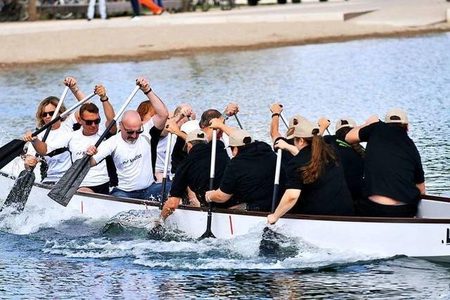 So lief das erste Drachenboot-Gerangel im Seepark
