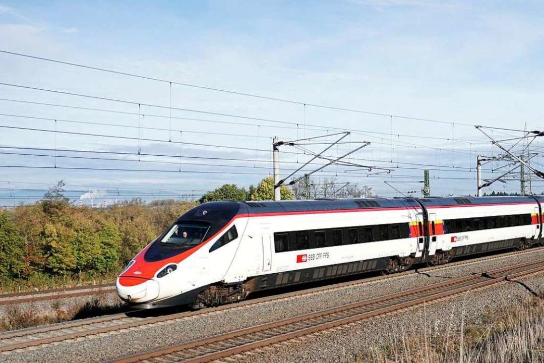 Der Wurfangriff bei Gundelfingen löste... des  Eurocity-Zuges aus (Symbolbild).  | Foto: Heinz Göttlich