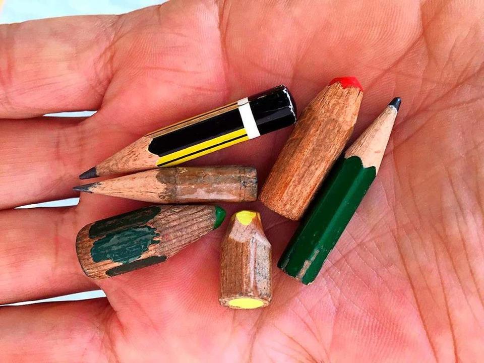 Bleistiftstummel – schön anzusehen und nachhaltig  | Foto: Jupp Trauth