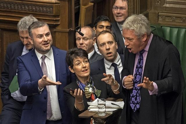 Gespenstische Ruhe in Westminster