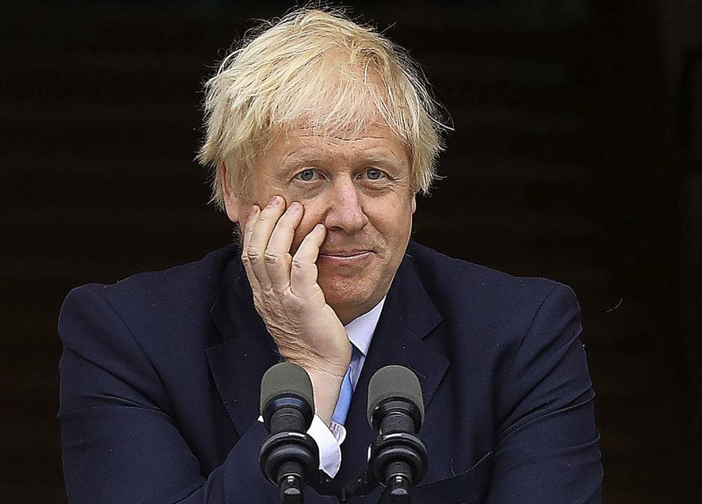 Welches Ziel verfolgt Boris Johnson? D... weiten Teilen des Landes Rätselraten.  | Foto: LORRAINE O'SULLIVAN (AFP)