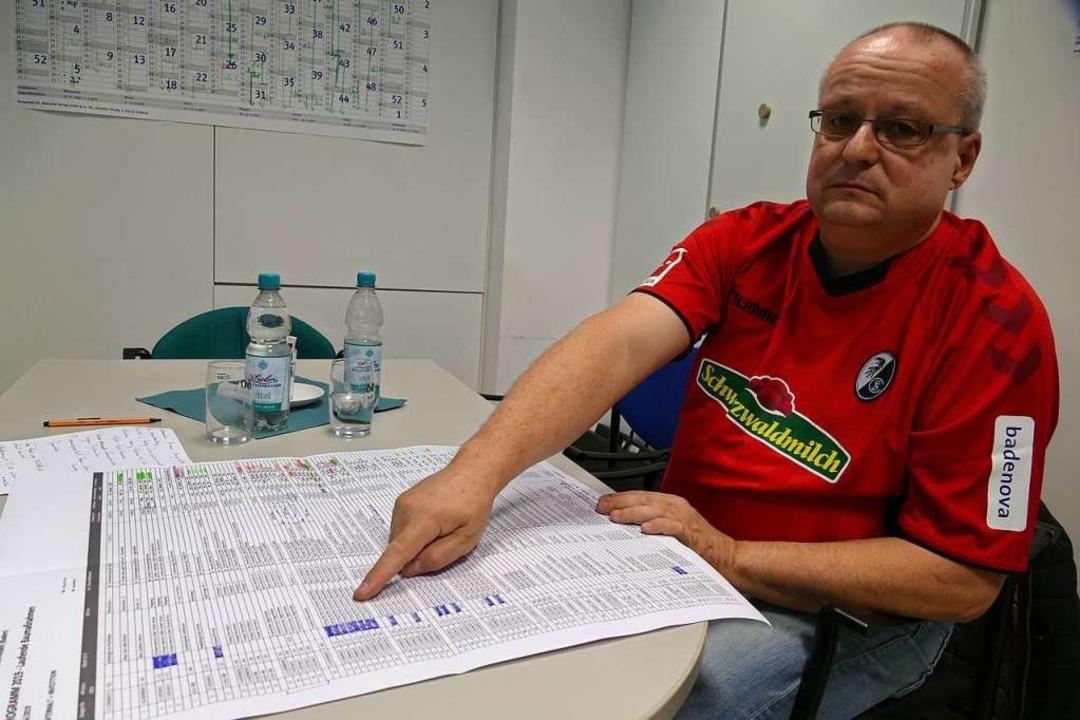 Erich-Knut Geiger vom Gebäudemanagemen...äkchen gesetzt, aber das klappt nicht.  | Foto: Ingrid Böhm-Jacob