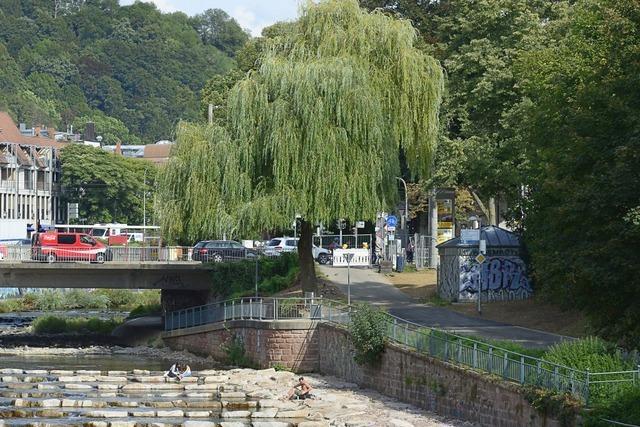 Ufer-Radweg beim Schwabentorwehr bald wieder offen