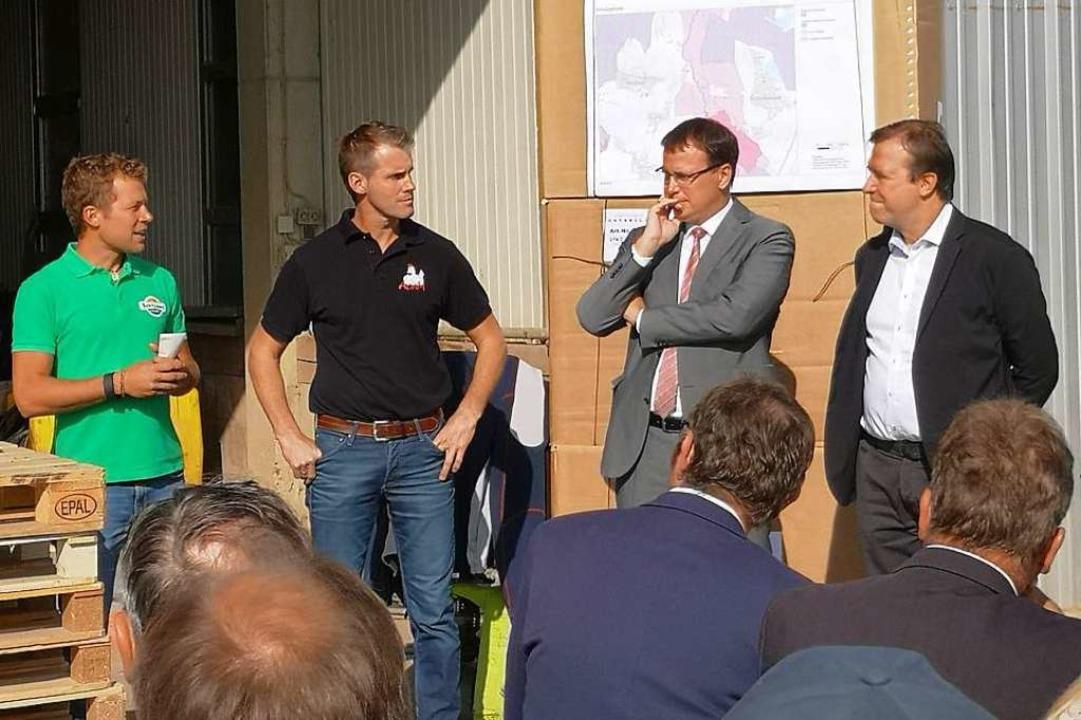 Anschließend diskutierten Thomas Marwe...er Rheinebene (von rechts nach links).  | Foto: Ralf Burgmaier
