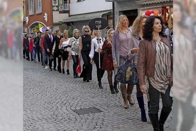 Eine Modenschau in der Altstadt