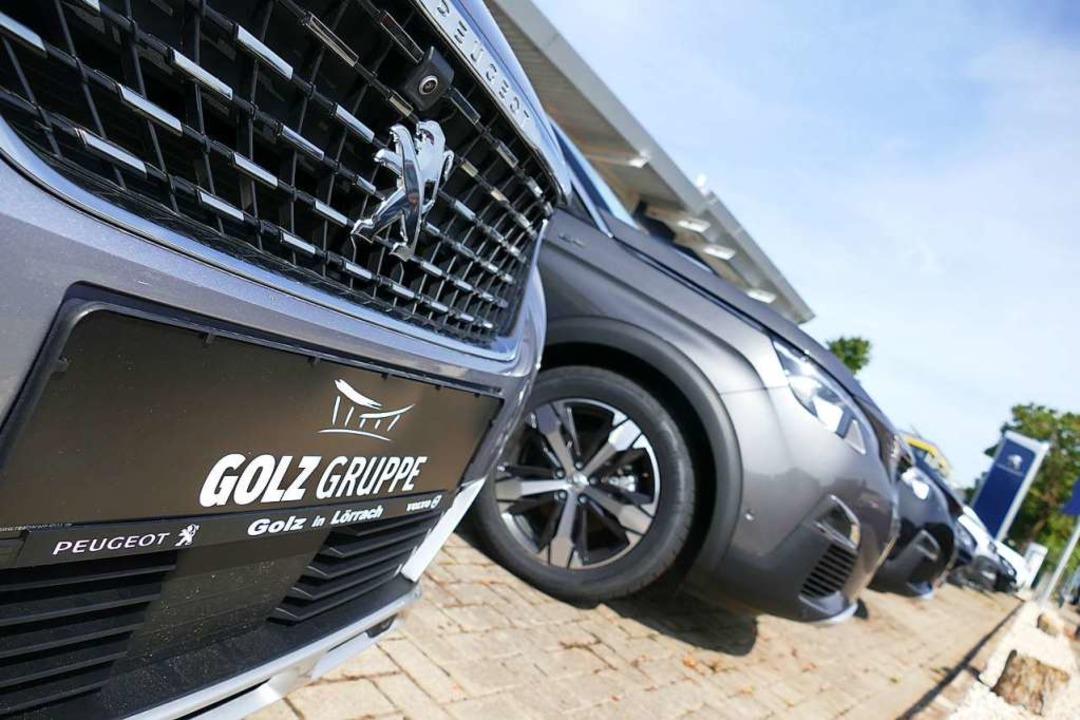 Beim Autohaus Golz stimmen die Verkauf...n zu spät geliefert, sagt der Inhaber.  | Foto: Willi Adam