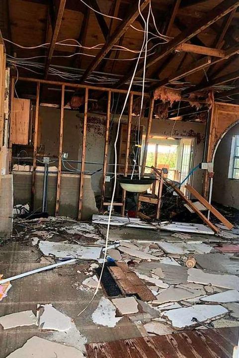 Gembalies' zerstörtes Haus von innen  | Foto: Henning Gembalies