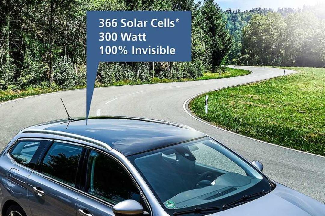 Nicht zu sehen – 366  Solarzellen im Autodach  | Foto: Fraunhofer ISE