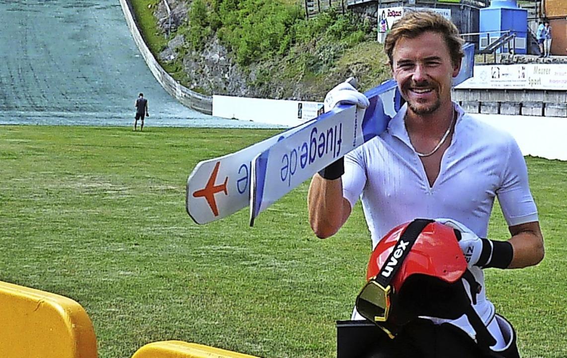 Fabian Rießle, hier beim Sommertrainin..., gewann den Grandprix in Vorarlberg.   | Foto: Johannes Bachmann
