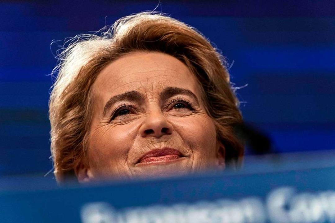 Ursula von der Leyen, die künftige EU-Kommissionspräsidentin  | Foto: KENZO TRIBOUILLARD (AFP)