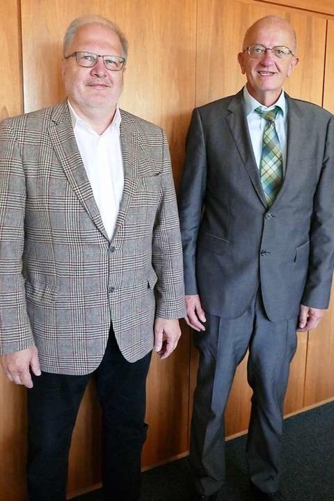 Die Geschäftsführer des Rehaklinikums:...Mast und Karl-Heinz Schurz (von links)  | Foto: Axel Kremp