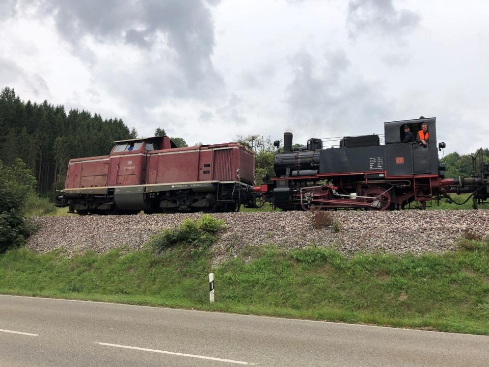Die Lok 20 wurde ins Kandertal überführt.  | Foto: Jürgen Lange
