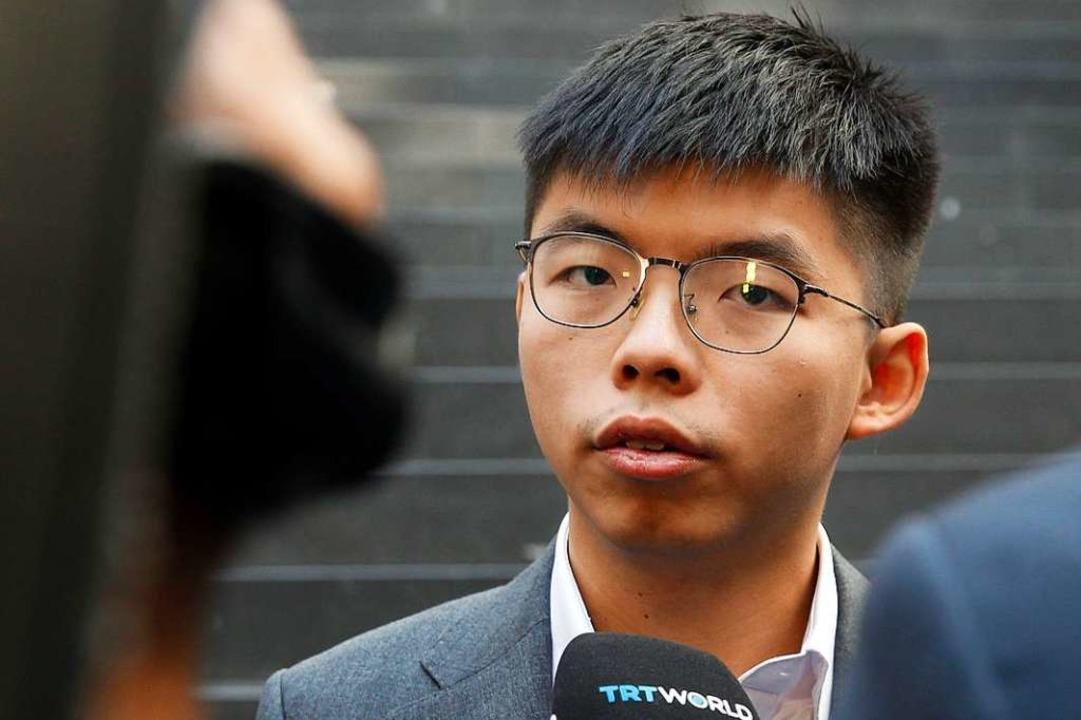 Joshua Wong in Berlin    Foto: MICHELE TANTUSSI (AFP)