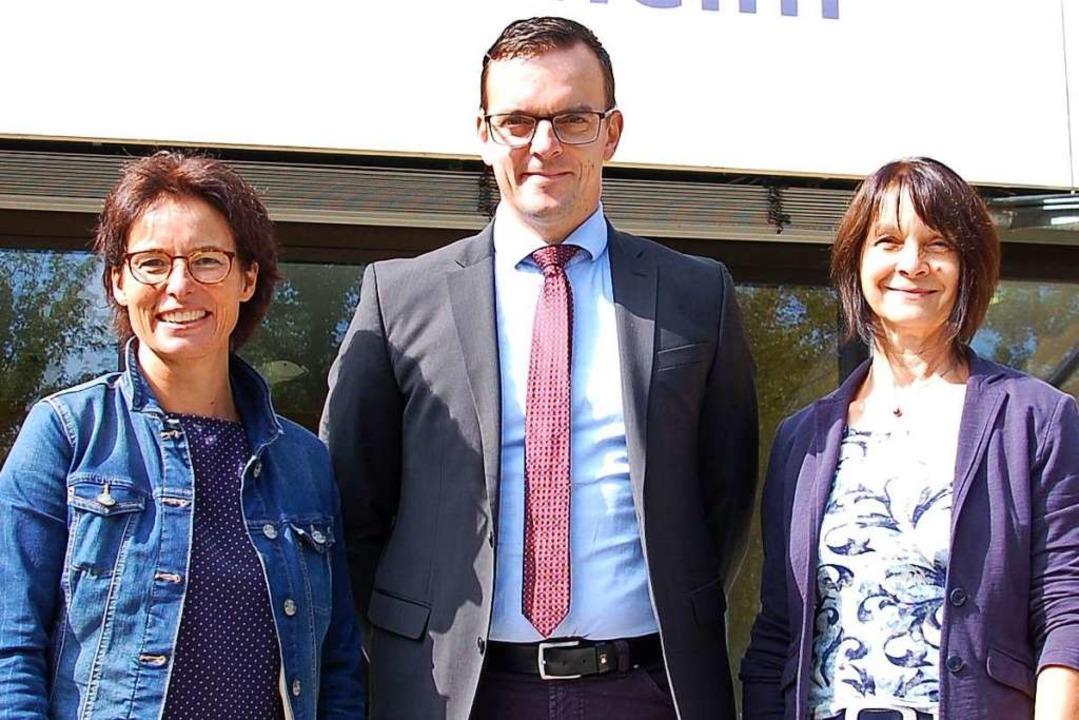 Angelika Philipzen,  Erik Weide und Be...operation an der Friesenheimer Schule.  | Foto: Wolfgang Beck