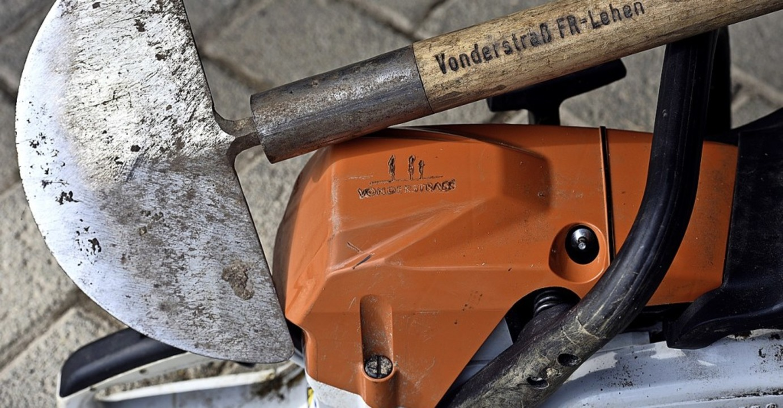 So wie diese zurückgelassenen Arbeitsg...h die gestohlenen eindeutig markiert.   | Foto: Thomas Kunz