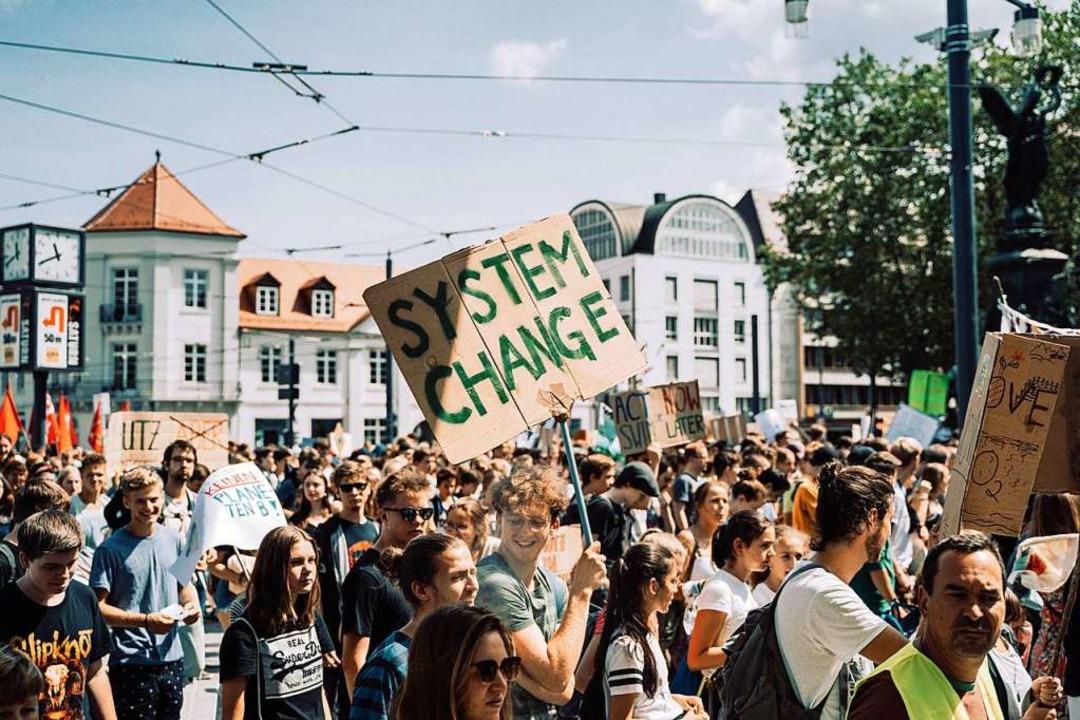 Der letzte Streik von Fridays for Future in Freiburg fand am 19. Juli statt.  | Foto: Stefan Hipp