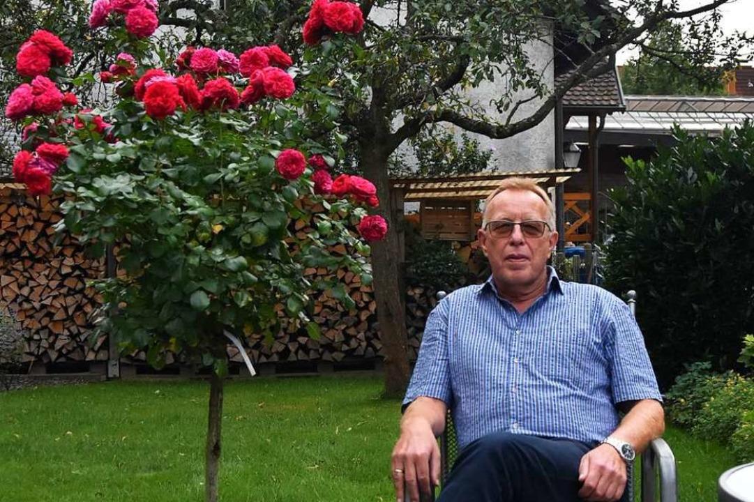 Nach Feierabend entspannt Kurt Zwick gerne in seinem Garten.    Foto: Sebastian Krüger