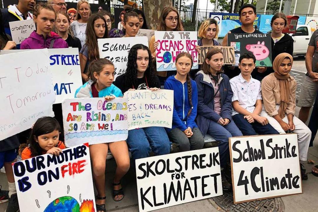 Die Schulstreiks haben die Klimadebatte deutlich vorangetrieben.    Foto: Richard Drew (dpa)