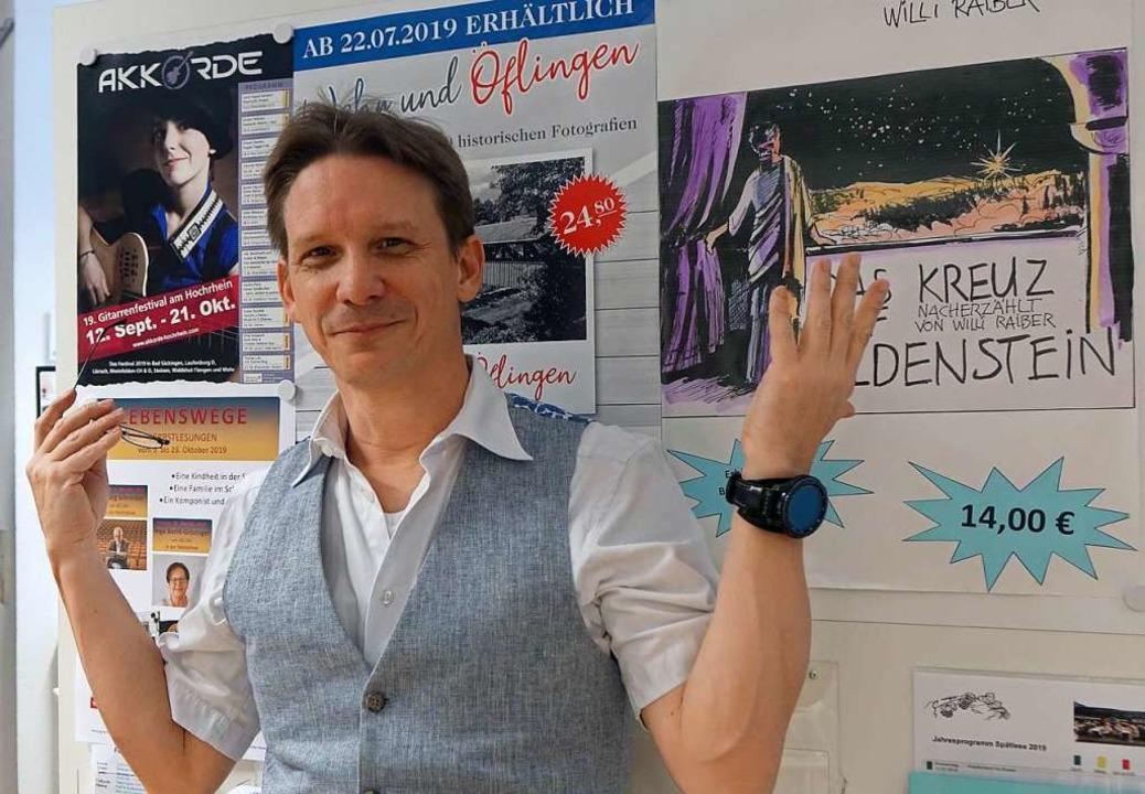 Der neue Wehrer Kulturamtsleiter Frank... Kunst- und Kulturprogramm der Stadt.   | Foto: Roswitha Frey