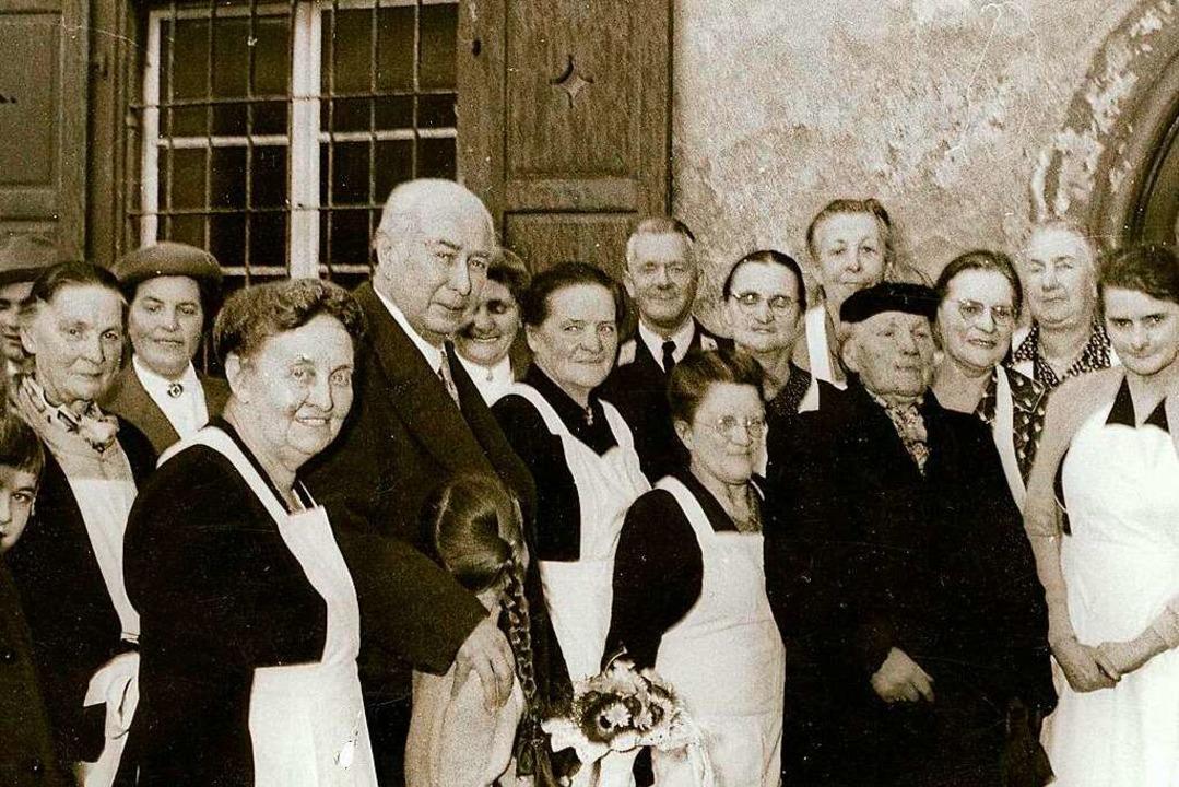 Seine Besuche waren selten rein privat...ispiel auch die Lörracher Suppenküche.    Foto: Sammlung Dreiländermuseum