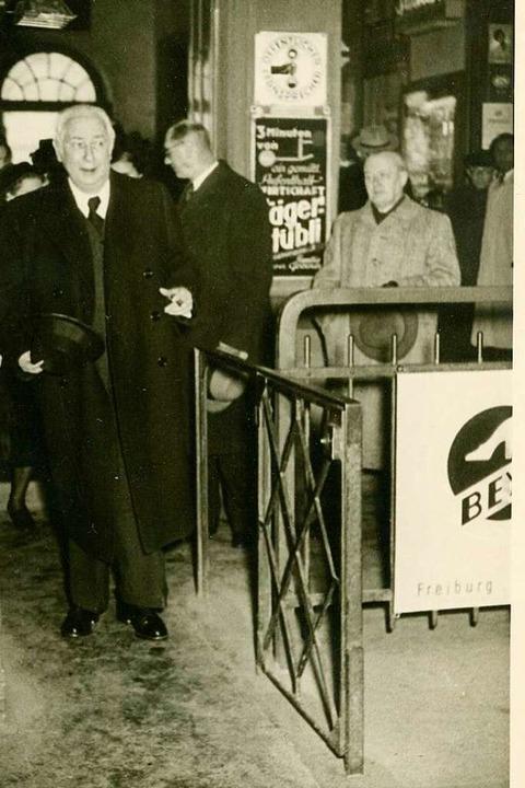 Ankunft am Bahnhof.    Foto: Sammlung Dreiländermuseum
