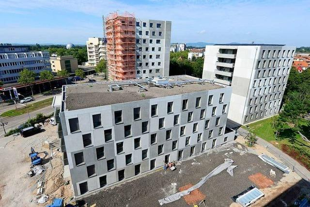 Neubau in der Stusie entlastet den Freiburger Wohnungsmarkt