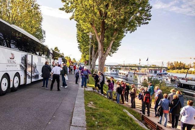 Immer öfter nehmen Schiffstouristen Kurs auf Freiburg