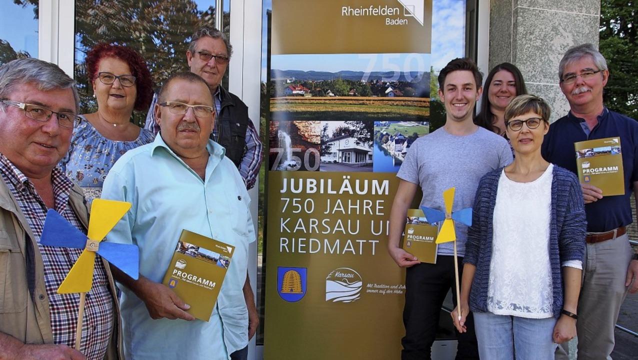 Einige der Organisatoren (von links): ...er, Sandra Kromer und  Eckhart Hanser.    Foto: Boris Burkhardt