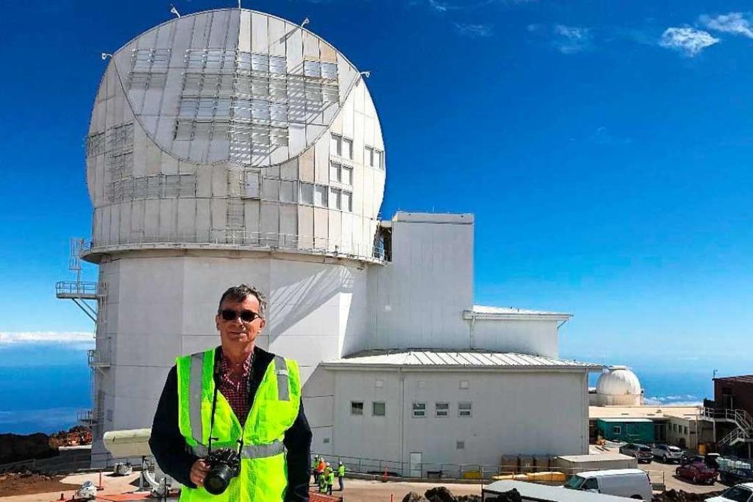 Wolfgang Schmidt erforscht die Sonne: ...eltgrößten Sonnenteleskops auf Hawaii.  | Foto: Privat