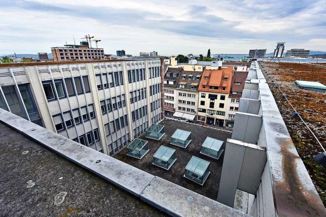 Das Kollegiengebäude II der Albert-Lud...en Stand des  Rohbaus gebracht werden.  | Foto: Michael Bamberger