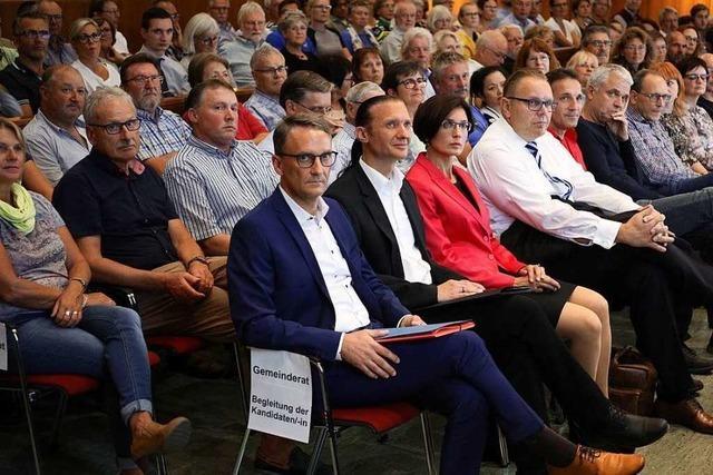Kandidatenvorstellung Oberbürgermeisterwahl Lahr