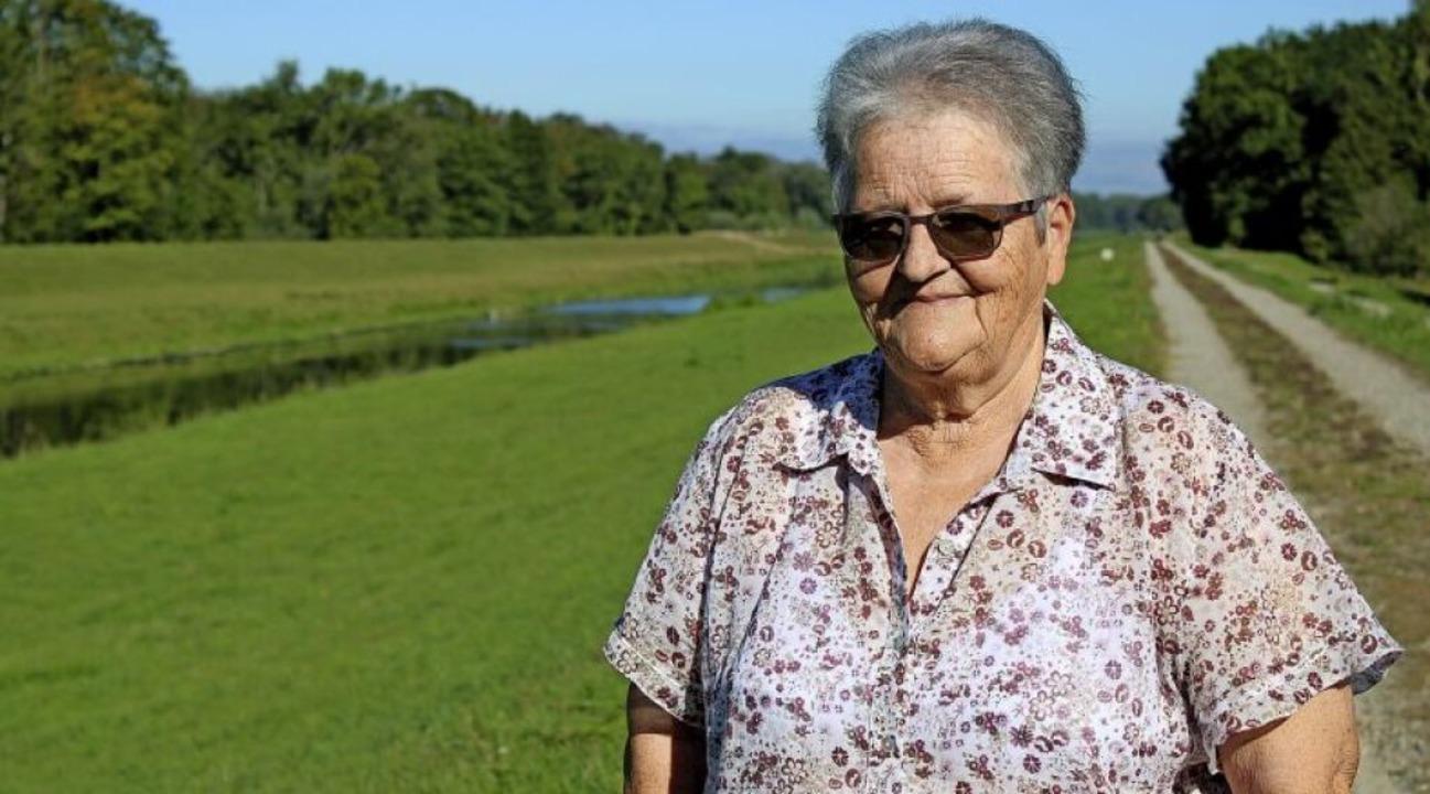 Doris Zängle erinnert sich noch heute ...e Wasch- und Badetage am Kanal zurück.  | Foto: Annika Sindlinger