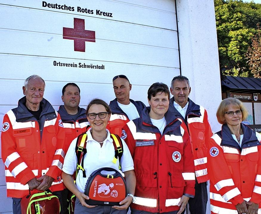 Ein Teil der Gruppe, die nun in Schwörstadt  bei Notfällen aktiv wird.  | Foto: Rolf Reißmann