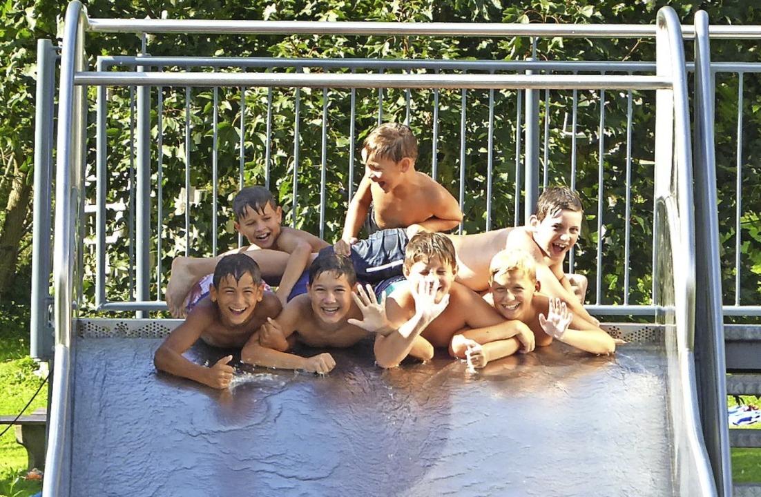 Für die Kinder ist ein Schwimmbad &#82...rn, aber auch mit Freunden zu erholen.    Foto: Roland Gutjahr