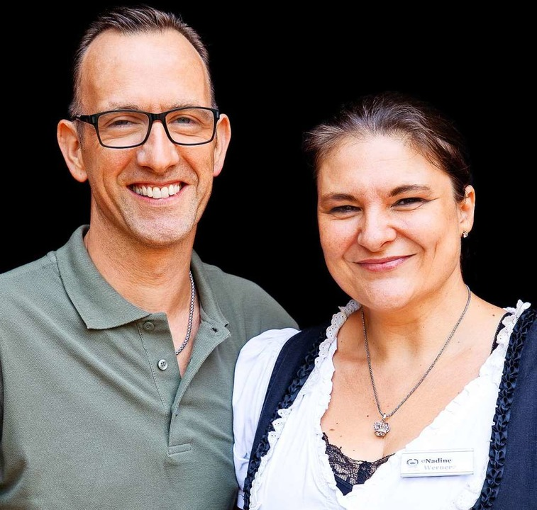 """""""Zur Krone""""-Gastgeber Sascha Kölsch und Nadine Werner    Foto: Michael Wissing"""