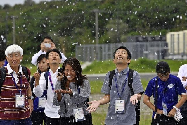 Schnee für die Sommerspiele