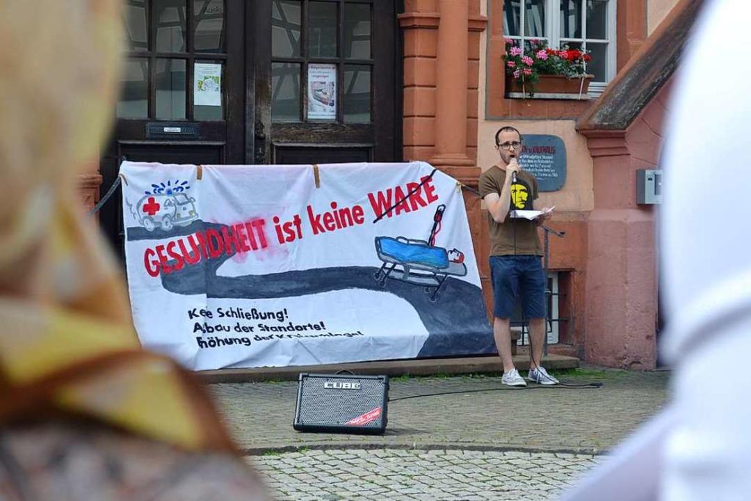 """Yannik Hinzmann vom """"Bündnis"""" ist einer der drei Kläger.    Foto: Harald Rudolf"""